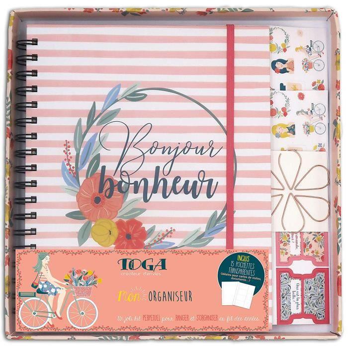 Toga Mon Organiseur Kit de Papeterie, Papier, Multicolore, Carnet 20x24,5cm