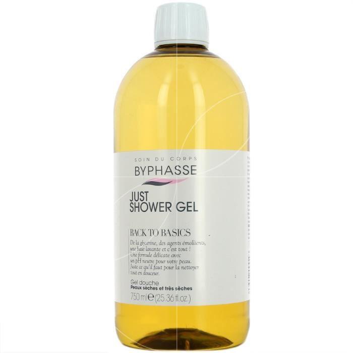 Byphasse - Back to Basics gel douche peaux sèches et très sèches - 750ml
