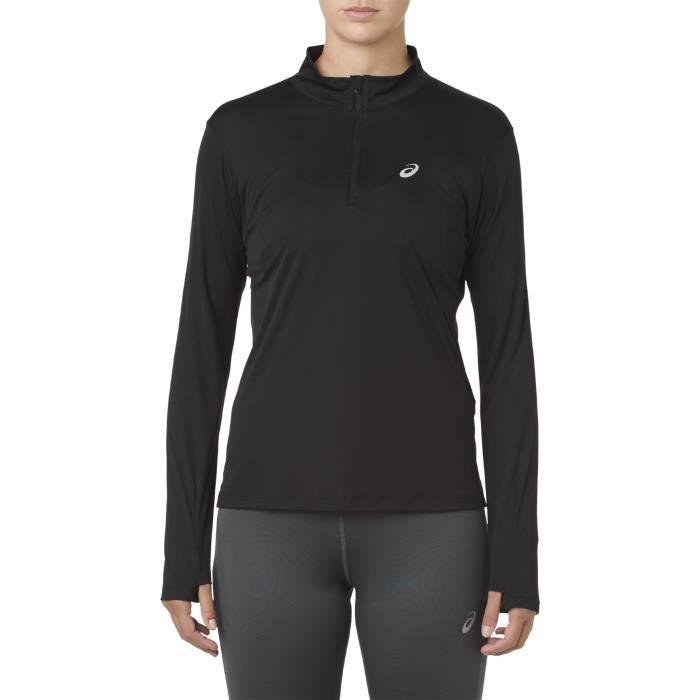 Sweat 1/2 zip femme Asics Silver top