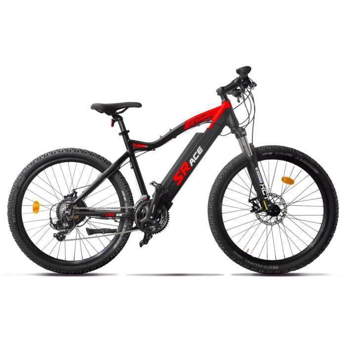 VTT électrique CRZ 27.5' SRACE ( Batterie semi-intégrée) 36V13Ah Noir/Rouge VG Bikes