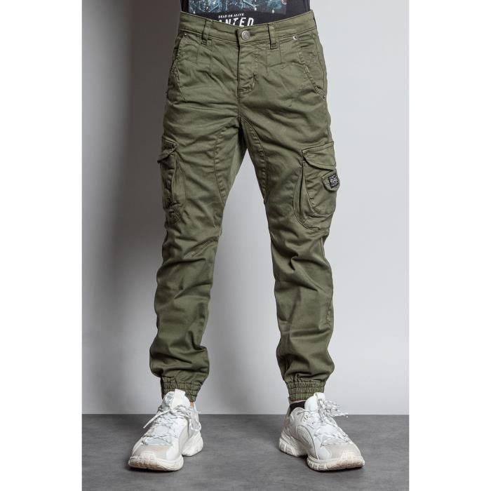 DEELUXE Pantalon cargo slim GARDEN Olive