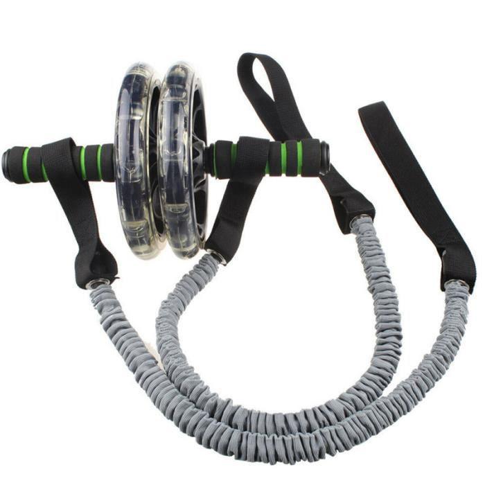 Roue abdominale traction corde roue auxiliaire élastique tension ceinture résistance exercice APPAREIL ABDO - PLANCHE ABDO