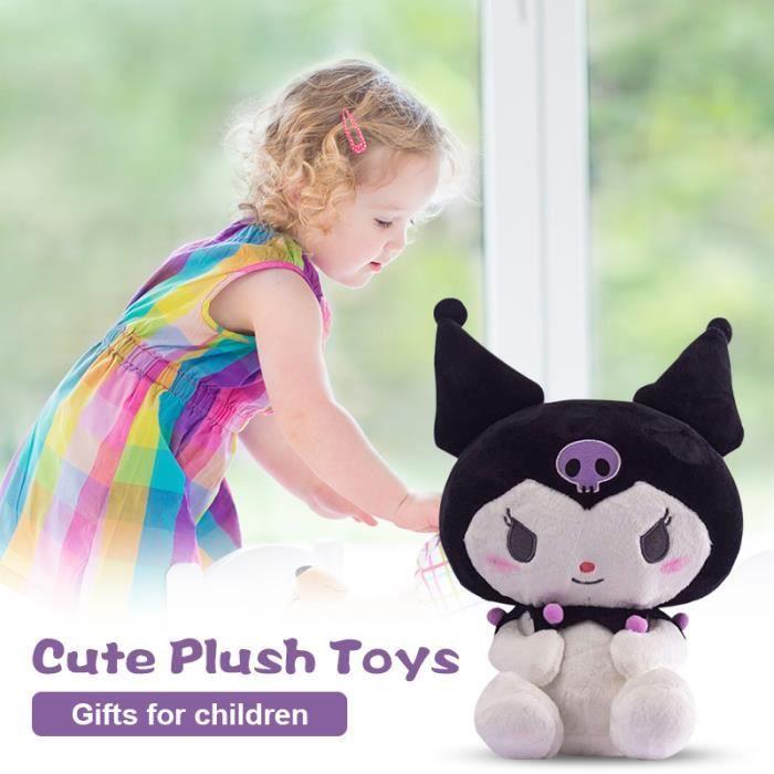 Peluche douce Sanrio Kuromi poupée anime jouets figurine cadeau pour enfants