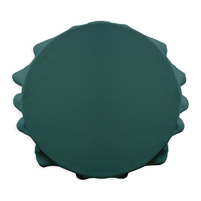 Nappe ronde polyester FAMILY 180cm Emeraude
