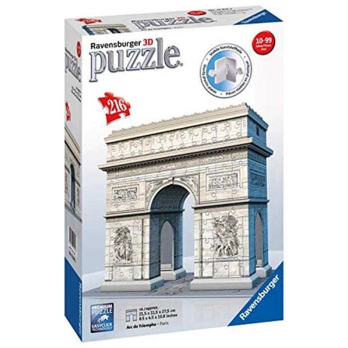 CASSE-TÊTE Casse-Tete W7BF4 arc de triomphe, 216pc 3d puzzle