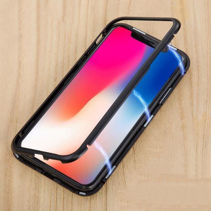 magnetique coque pour iphone 7 plus 8 plus avec a