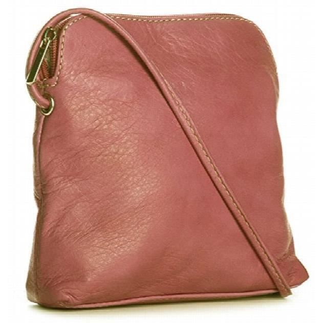 Womens Véritable cuir souple Mini Cross Body Bag italienne FUSVL