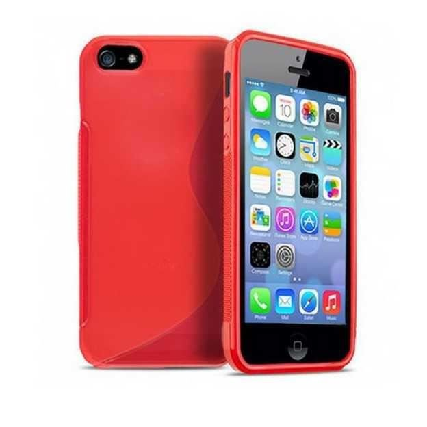coque silicone rouge iphone 5 5s