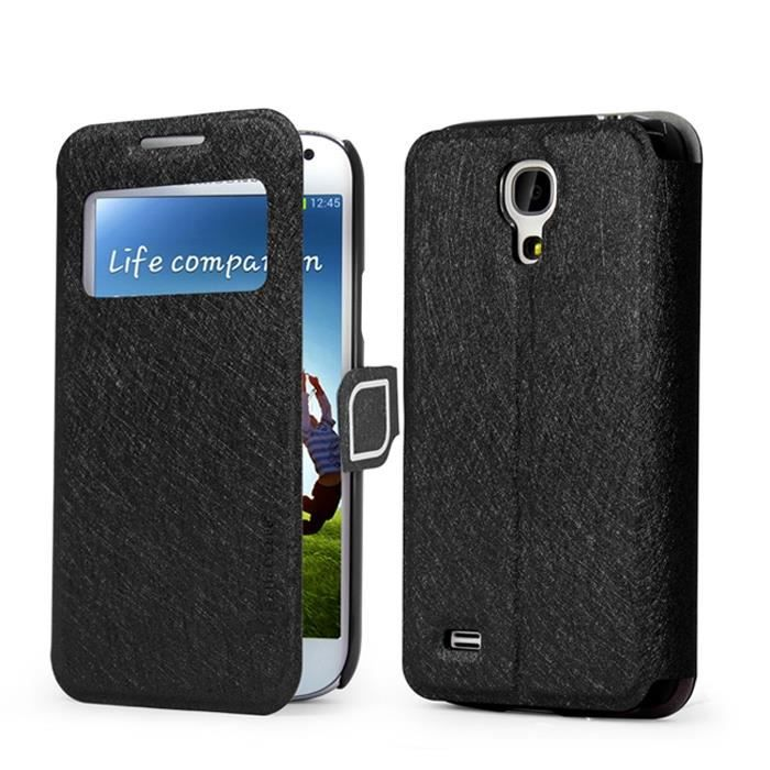 Mooncase cuir etui portefeuille housse coque de protection for Housse samsung galaxy s4