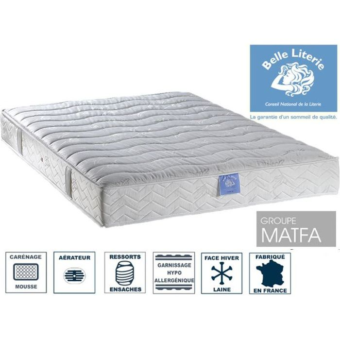 matelas belle literie 140x200 achat vente pas cher. Black Bedroom Furniture Sets. Home Design Ideas