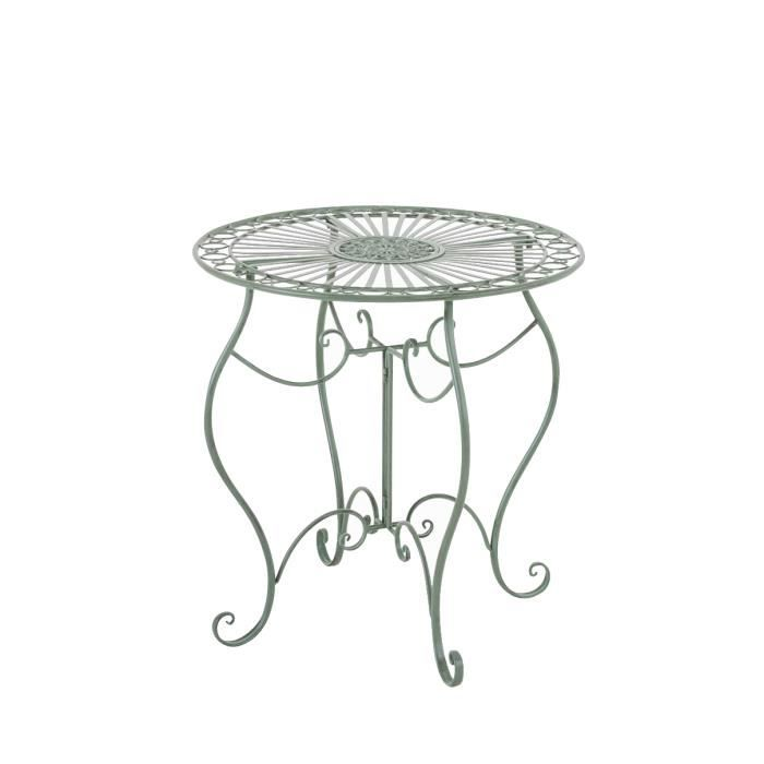 Table de jardin en fer forge achat vente table de for Table de jardin ronde en fer