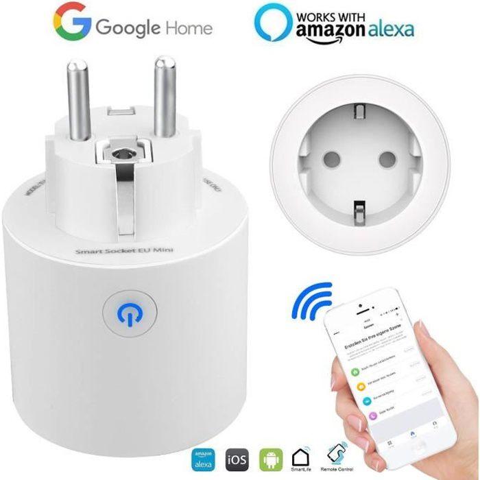 Commutateur de prise de courant intelligent avec mini-wifi pour /écho Alexa//Google Home Remote EU Fonctionnalit/é A