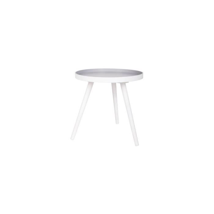 Table basse ronde tr pied false couleur blanc achat for Table basse ronde blanc