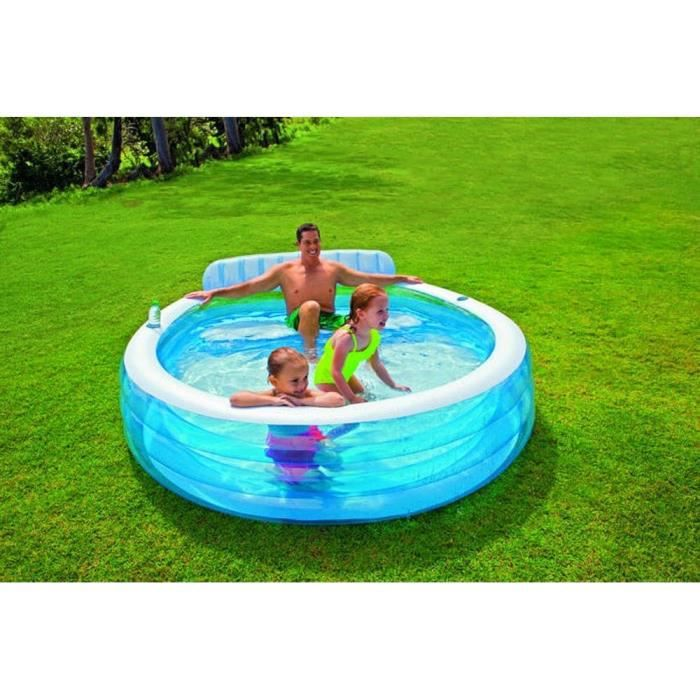piscine gonflable carre hublot 57495