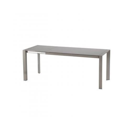 Table extensible elvio taupe achat vente table a - Table a manger taupe ...