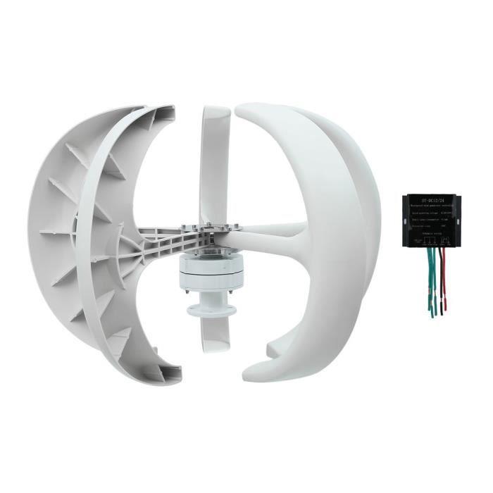 Turbine Eolienne 12V Lanternes Wind Turbine Generator 400W Vertical Axis Contr/ôleur Noir G/én/érateur De Turbine