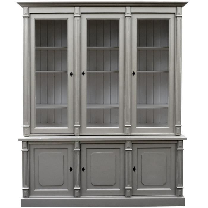 meuble directoire vitr 3 portes en pin massif achat vente buffet bahut meuble. Black Bedroom Furniture Sets. Home Design Ideas