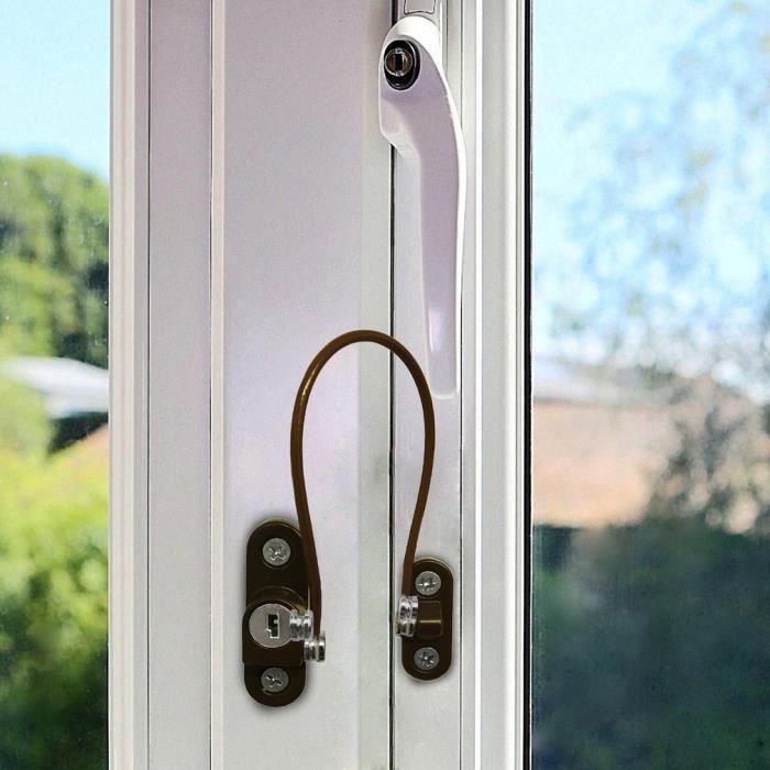 4x Dale matériel Câble Fenêtre Réducteur Verrou de sécurité Safety DP005804 63:13