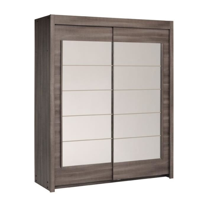 armoire dressing 2 portes coulissantes ch ne gris sleep. Black Bedroom Furniture Sets. Home Design Ideas