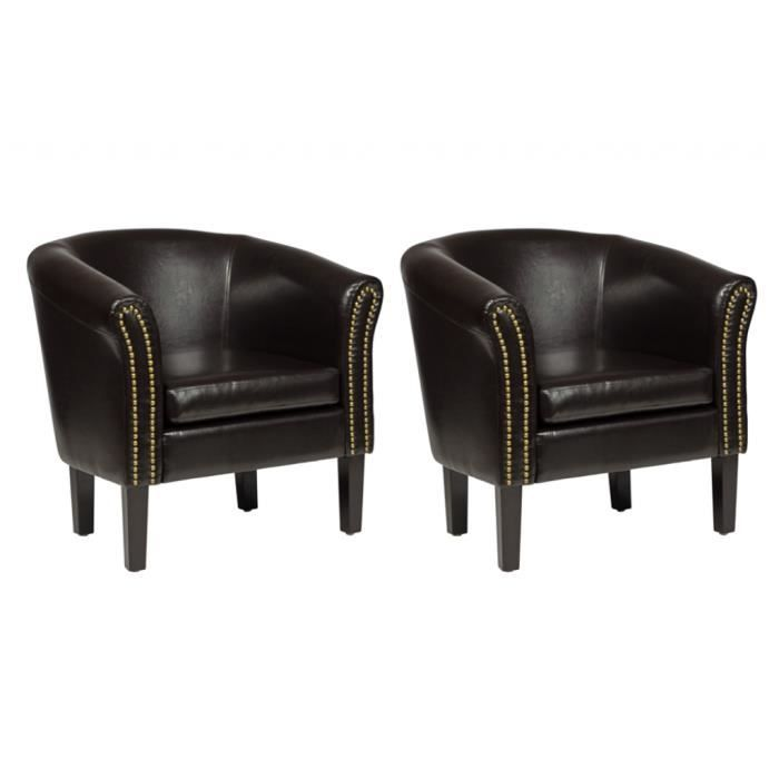 fauteuil cabriolet simili cuir marron. Black Bedroom Furniture Sets. Home Design Ideas