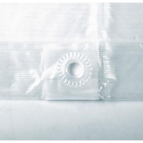 Bache 5x10 m translucide indéchirable platinium pour serre pergola jardin