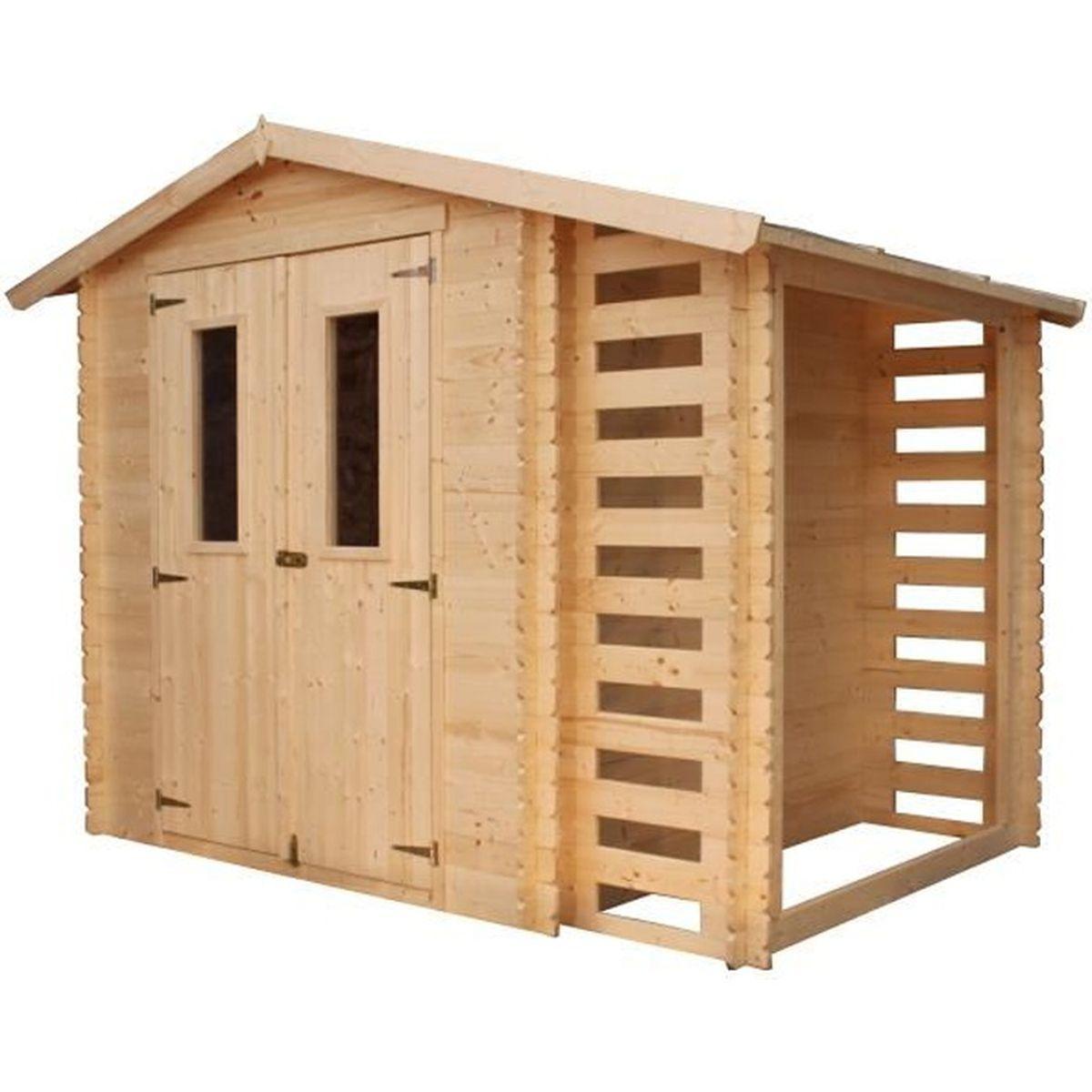 Grande Cabane De Jardin Pas Cher timbela- abri de jardin en bois m386c- chalet en sapin+