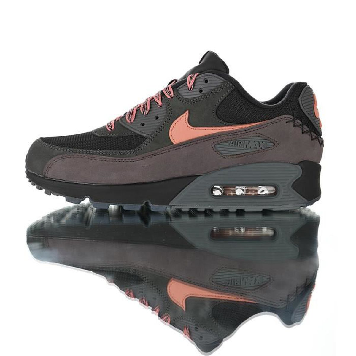 sports shoes cute cheap factory outlets Baskets Nike Air Max 90 Essential Homme Noir Running Chaussures ...