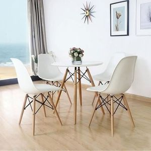 table ronde laquee blanche achat vente table ronde laquee blanche pas cher cdiscount. Black Bedroom Furniture Sets. Home Design Ideas