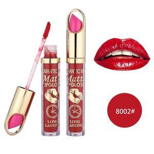 ROUGE A LEVRES  Rouge à lèvres romantique mai imperméable Long Lasting Matte liquide Rouge à lèvres cosmétiques BIO#2833