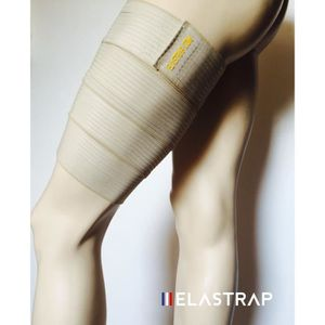 PROTÈGE-JAMBE - CUISSE Bande Bandage Cuisse Strapping élastique à scratch