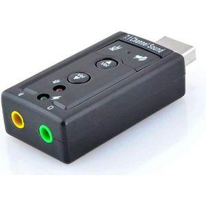 CARTE SON EXTERNE INECK® Externe Adaptateur USB Audio Carte son 3D 7