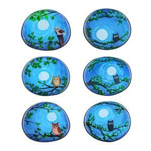 RÉFRIGÉRATEUR CLASSIQUE TJ 6 pièces de couleur hibou série Réfrigérateur m