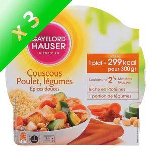 SEMOULE - COUSCOUS Couscous aux épices 300g (Lot de 3)