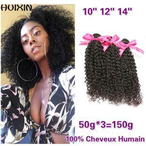 PERRUQUE - POSTICHE 3tissage Cheveux Brésiliens Tissent Crépus Bouclés