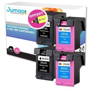CARTOUCHE IMPRIMANTE Lot de 4 Cartouches compatible pour HP Officejet 2