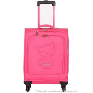 VALISE - BAGAGE LOLLIPOPS PARIS Valise cabine souple PSF Rose