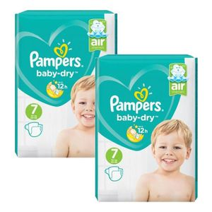 COUCHE 144 Couches Pampers Baby Dry taille 7