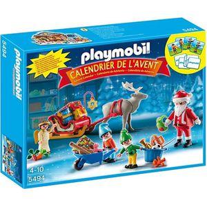 UNIVERS MINIATURE PLAYMOBIL 5494 Calendrier Avent Père Noël