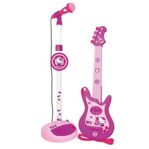 INSTRUMENT DE MUSIQUE HELLO KITTY Guitare et Micro