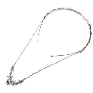 BANDEAU - SERRE-TÊTE Serre tête métal strass avec chaîne en strass amov