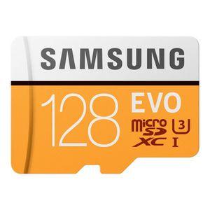 CARTE MÉMOIRE Samsung EVO MB-MP128GA - Carte mémoire flash (adap