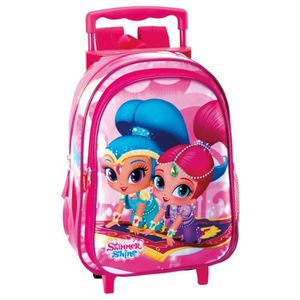 CARTABLE Sac à dos à roulettes maternelle Shimmer and Shine