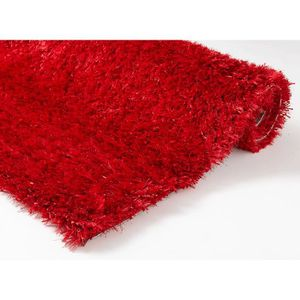 Tapis Shaggy Rouge Achat Vente Tapis Shaggy Rouge Pas Cher Cdiscount