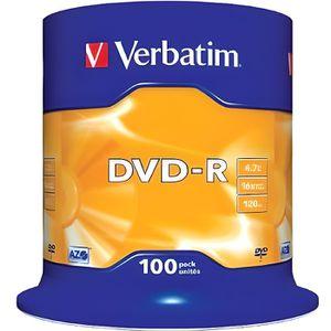 CD - DVD VIERGE 100 DVD-R Vierge Verbatim
