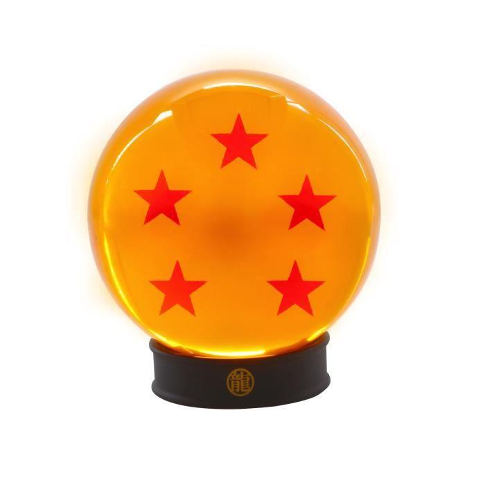 DRAGON BALL - Boule de cristal 5 étoiles 75 mm + socle