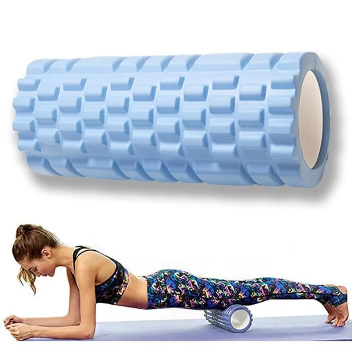 Rouleau de Massage Foam Roller pour Trigger Massage Physiothérapie,33*14cm,bleu