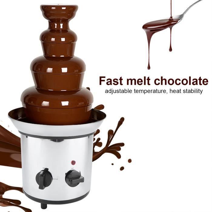 Fontaine à chocolat électrique en acier inoxydable