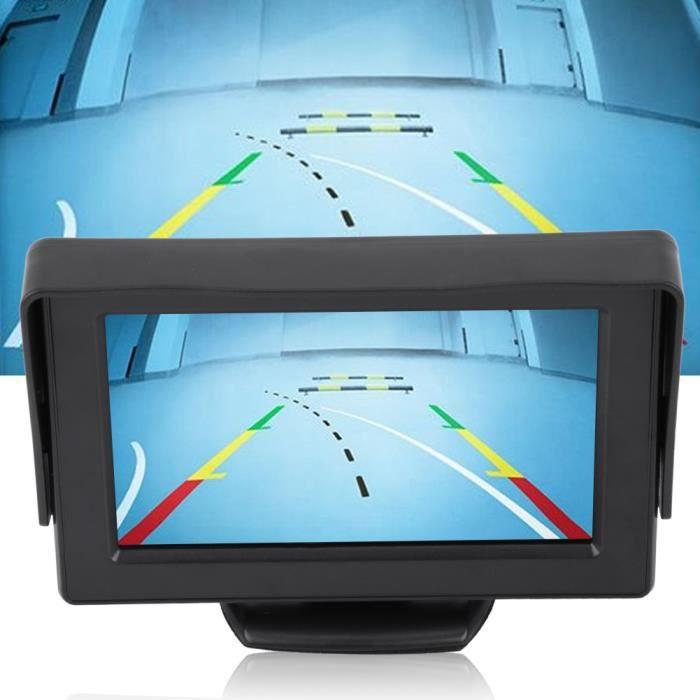 Caméra de recul de vue arrière de voiture sans fil Kit de moniteur LCD TFT 4,3 pouces Vision nocturne -KEL
