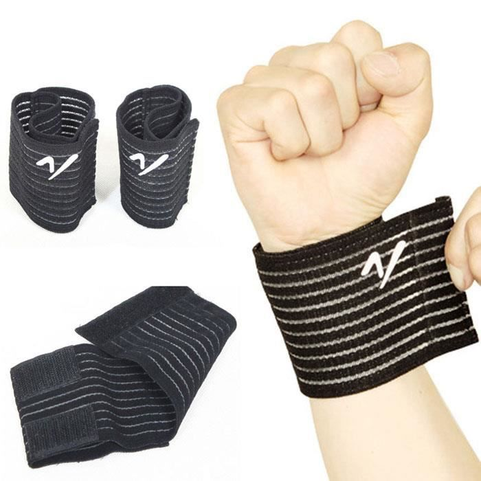 1pc noir bande de support de poignet de basket-ball vin T bandage sous pression