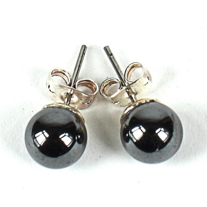 Boucles d'oreilles Boucles d oreilles puce - Perles noires nacrees